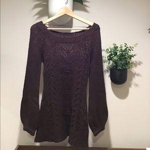 H&M Maroon Sweater Tunic